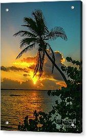 Tropical Lagoon Sunrise Acrylic Print