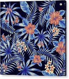 Tropical Leaf Pattern 4 Acrylic Print