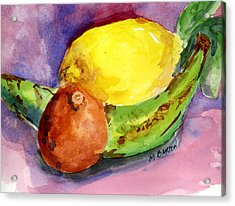 Acrylic Print featuring the painting Tropical by Marilyn Barton