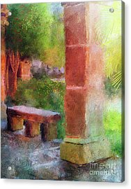 Acrylic Print featuring the digital art Tropical Memories by Lois Bryan