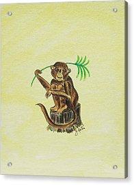 Tropical Monkey 3 Acrylic Print by John Keaton