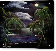 Tropical Moonlight Acrylic Print