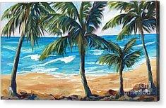 Tropical Palms I Acrylic Print