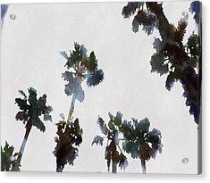 Tropical Palms Acrylic Print by Tracey Harrington-Simpson