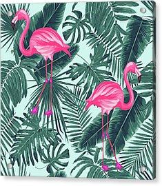 Tropical Pink Flamingo Acrylic Print