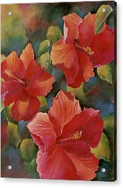 Acrylic Print featuring the painting Tropical Punch by Ann Peck