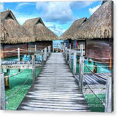 Tropical Resort Paradise Seascape Florida Keys 01 Acrylic Print
