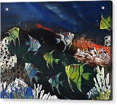 Tropical Seaworld Acrylic Print by Barbara Teller
