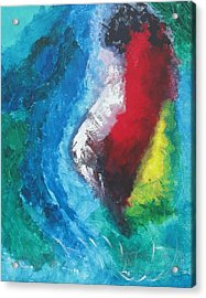 Acrylic Print featuring the painting Tropical Storm by Diane Pape