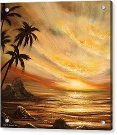Tropical Sunset 65 Acrylic Print