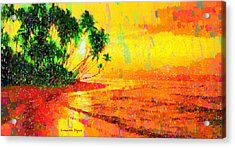 Tropical Sunset - Da Acrylic Print by Leonardo Digenio