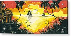 Tropical Sunset Acrylic Print by Herold Alvares