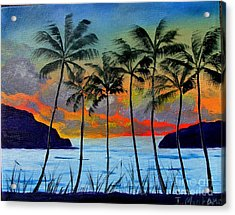Tropical Sunset Acrylic Print by Inna Montano
