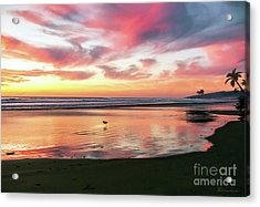 Tropical Sunset Island Bliss Seascape C8 Acrylic Print