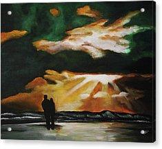 Tropical Sunset Acrylic Print by Kim Selig
