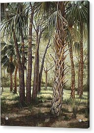 Tropical Trail's End Acrylic Print by AnnaJo Vahle