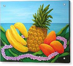 Tropical Trinity Acrylic Print by Pamela Allegretto