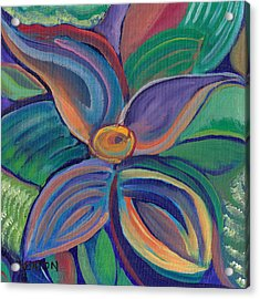 Acrylic Print featuring the painting Tropical Vision by John Keaton