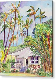 Tropical Waimea Cottage Acrylic Print by Marionette Taboniar