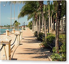 Tropical Walkway Acrylic Print