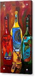 Tropical Wine Acrylic Print by Patti Schermerhorn