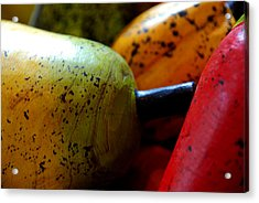 Tropical Wooden Fruits Acrylic Print by Valmir Ribeiro