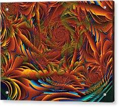 Acrylic Print featuring the digital art Tropicana Fantasy by Richard Ortolano