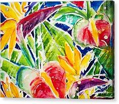 Tropics - Floral Acrylic Print by Julie Kerns Schaper - Printscapes
