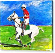 Acrylic Print featuring the painting Trot by Debora Cardaci