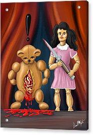 Trouble In Toyland Acrylic Print by David Kyte