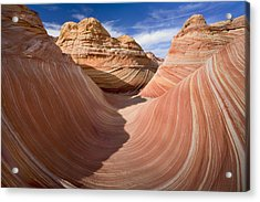 Trough Of The Wave Acrylic Print by Mike  Dawson