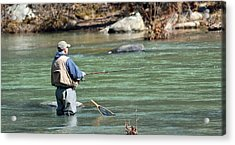 Trout Fishing Acrylic Print by Todd Hostetter