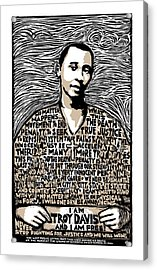Troy Davis Acrylic Print by Ricardo Levins Morales