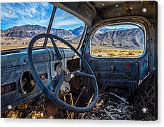 Truck Desert View Acrylic Print by Peter Tellone