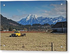 Truck In Harison Mills Acrylic Print
