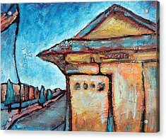 Truckee Train Depot Number 2 Acrylic Print by Sara Zimmerman