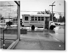 Truckin' In The Rain Acrylic Print by Jeanette O'Toole