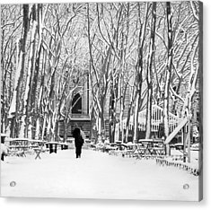 Trudging Through The Snow Acrylic Print by Andrew Kazmierski
