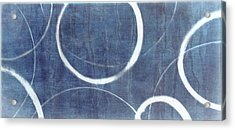 Acrylic Print featuring the painting True Blue Ensos by Julie Niemela