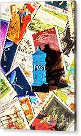 True Blue Postbox Acrylic Print