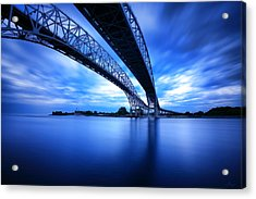 True Blue View Acrylic Print