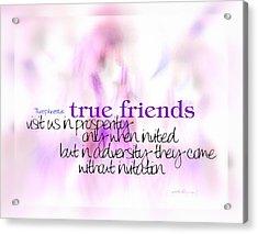 True Friends Acrylic Print
