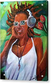 True Jamaican Rhythm Acrylic Print by Kirkland  Clarke