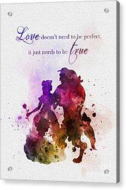 True Love Acrylic Print by Rebecca Jenkins