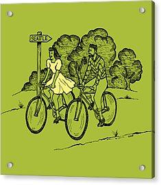 True Romance Bike Ride Acrylic Print by Karl Addison