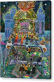 Acrylic Print featuring the painting Trueno Ayahuasca  by Pablo Amaringo