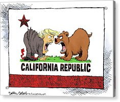 Trump And California Face Off Acrylic Print