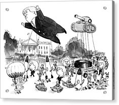 Trump Parade Acrylic Print