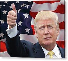 Trump Thumbs Up 2016 Acrylic Print