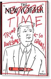 Trump Time Acrylic Print